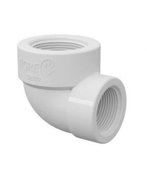 Joelho de Redução 90° Branco PVC Roscável