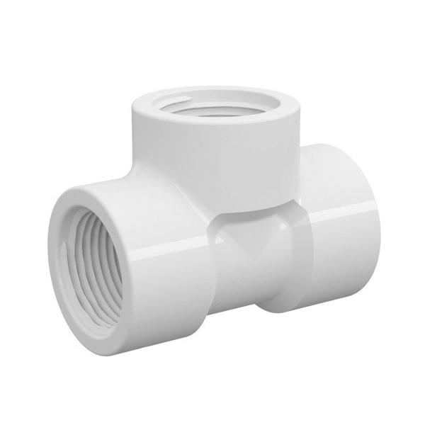 "Tê 90° Branco PVC Roscável 25mm ou 3/4"" Tigre"